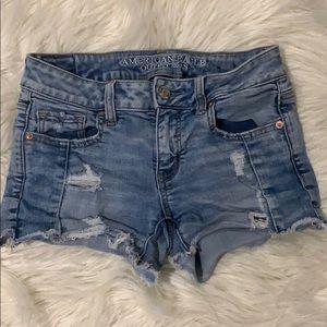 AE midi denim shorts